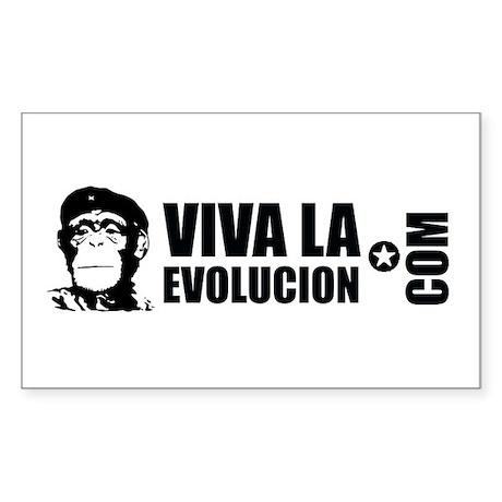 Viva La Evolucion Dot Com Sticker (Rectangle 50 pk