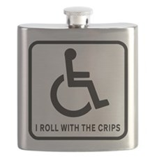 I Roll With the Crips Flask