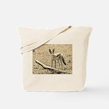 sepia silver backed jackal kenya collection Tote B