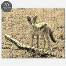 sepia silver backed jackal kenya collection Puzzle