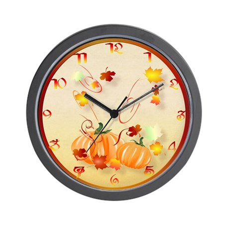 Wonderful Fall-Colorful Fall Wall Clock