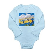 """Flight Crew"" Long Sleeve Infant Bodysuit"