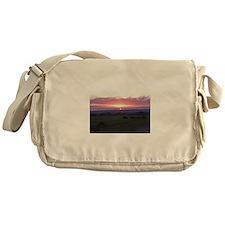 maasai mara sunset kenya collection Messenger Bag