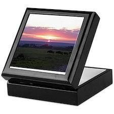 maasai mara sunset kenya collection Keepsake Box