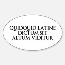 Latin Oval Decal