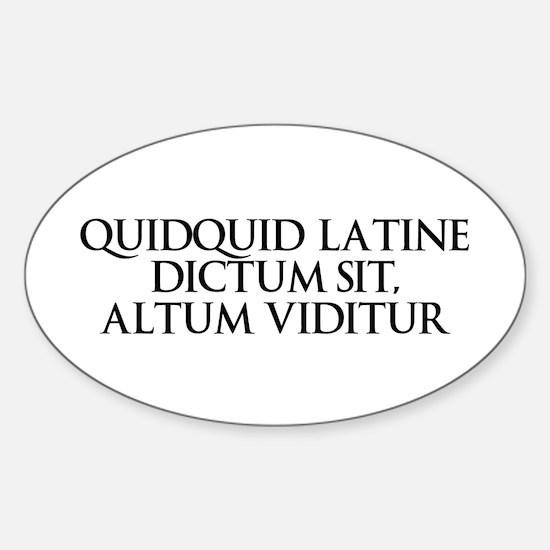 Latin Oval Decal