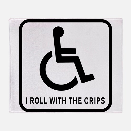 I Roll With the Crips Throw Blanket