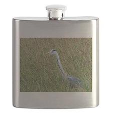 grey heron kenya collection Flask