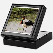 saddle billed stork kenya collection Keepsake Box