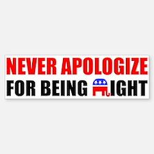"""Never Apologize"" Car Car Sticker"