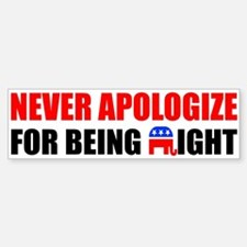 """""""Never Apologize"""" Stickers"""