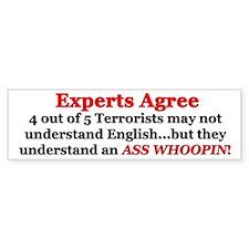 """""""Experts Agree: Ass Whoopin!"""" Bumper Bumper Sticker"""