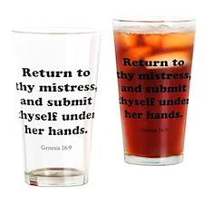 Genesis 16:9 Drinking Glass