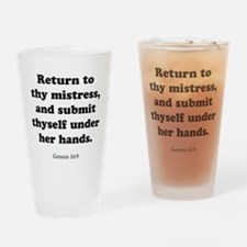Genesis 16:9 Drinking Glass