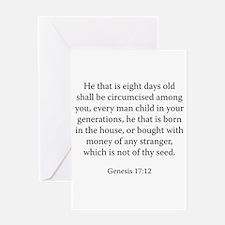 Genesis 17:12 Greeting Card