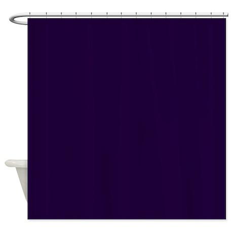 Dark Blue Shower Curtain