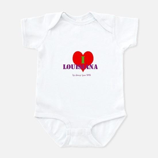 I Love Louisiana Heart Infant Bodysuit