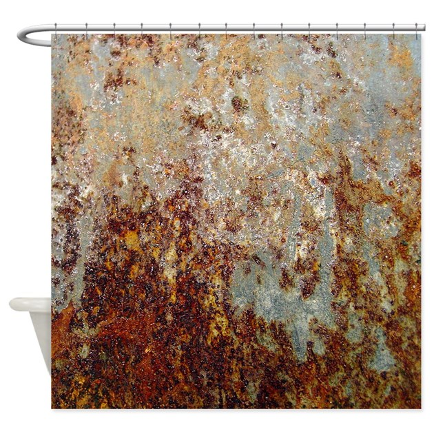 rust shower curtain by poptopia1
