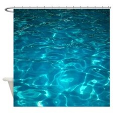 Swimming pool shower curtains swimming pool fabric Swimming pool shower curtain