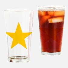 yellow star 1 Drinking Glass