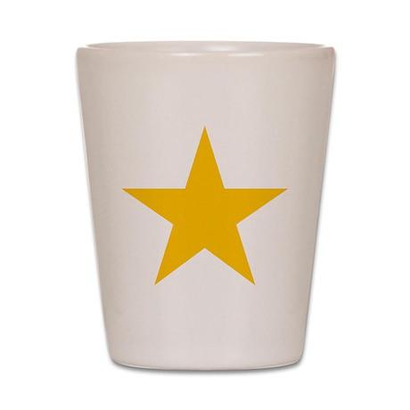 yellow star 1 Shot Glass