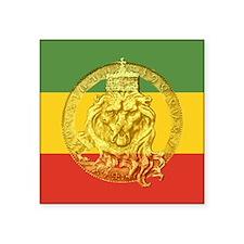 "Rasta Lion Of Judah Square Sticker 3"""