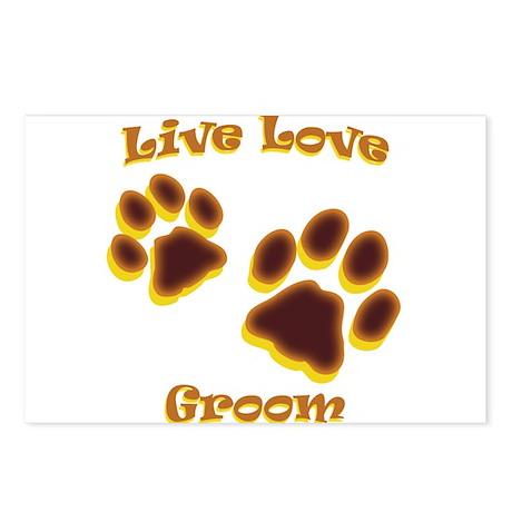 Live Love Groom Postcards (Package of 8)