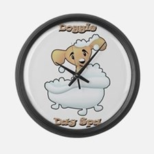 Doggie Day Spa Large Wall Clock