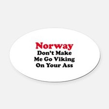 Norway Viking Oval Car Magnet