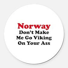 Norway Viking Round Car Magnet