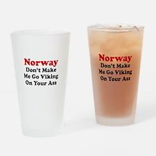 Norway Viking Drinking Glass