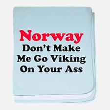 Norway Viking baby blanket