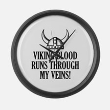 Viking Blood Runs Through My Veins! Large Wall Clo