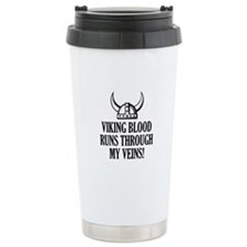 Viking Blood Runs Through My Veins! Travel Mug