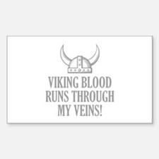 Viking Blood Runs Through My Veins! Decal
