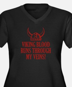 Viking Blood Runs Through My Veins! Women's Plus S