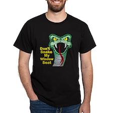 Snake My Seat Black T-Shirt