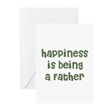 Happiness is being a Father Greeting Cards (Packag