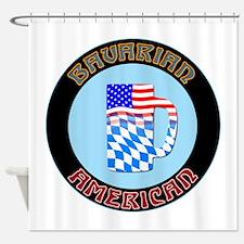 Bavarian American Beer Stein Shower Curtain