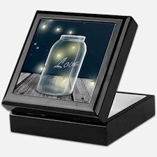 Midnight Fireflies Mason Jar Keepsake Box