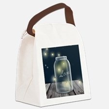 Midnight Fireflies Mason Jar Canvas Lunch Bag