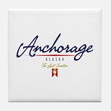 Anchorage Script Tile Coaster