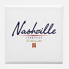 Nashville Script Tile Coaster