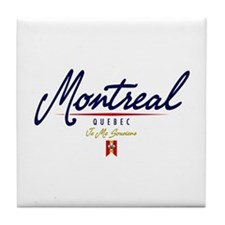 Montreal Script Tile Coaster
