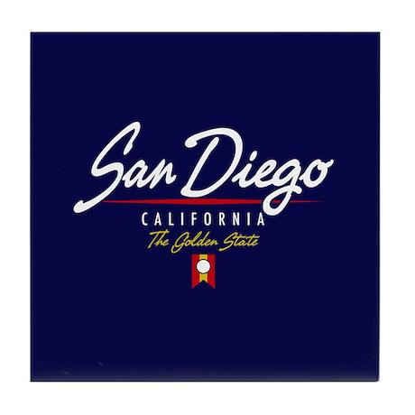 San Diego Script Tile Coaster