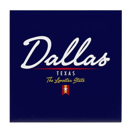 Dallas Script Tile Coaster