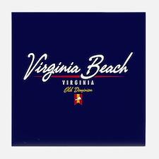 Virginia Beach Script Tile Coaster