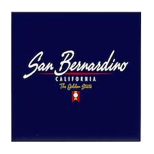 San Bernardin Script Tile Coaster