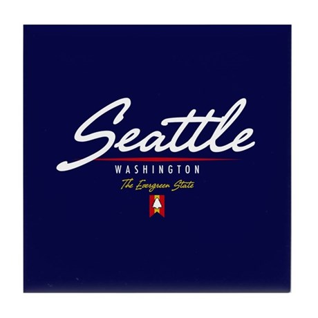 Seattle Script Tile Coaster
