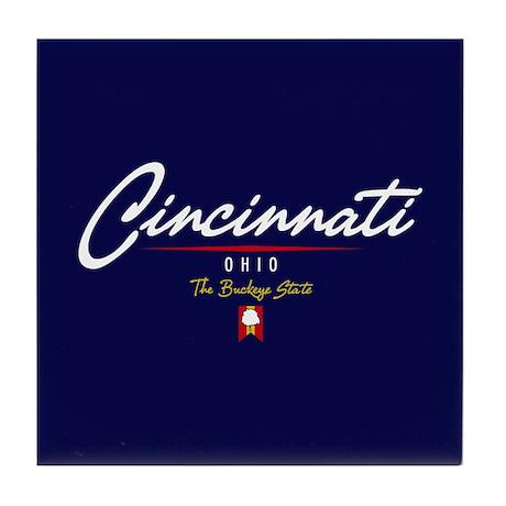 Cincinnati Script Tile Coaster